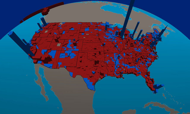 Essays Effluvia US Presidential Election Results By - Map of population density us election