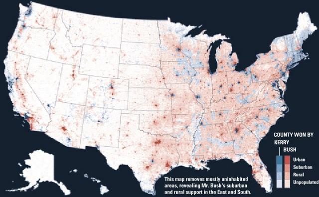 Essays Effluvia Popular Vote Population Density - Us map population vote